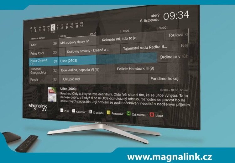 375d9b9f0 Magnalink TV: revoluční digitální televize. Nové možnosti sledování